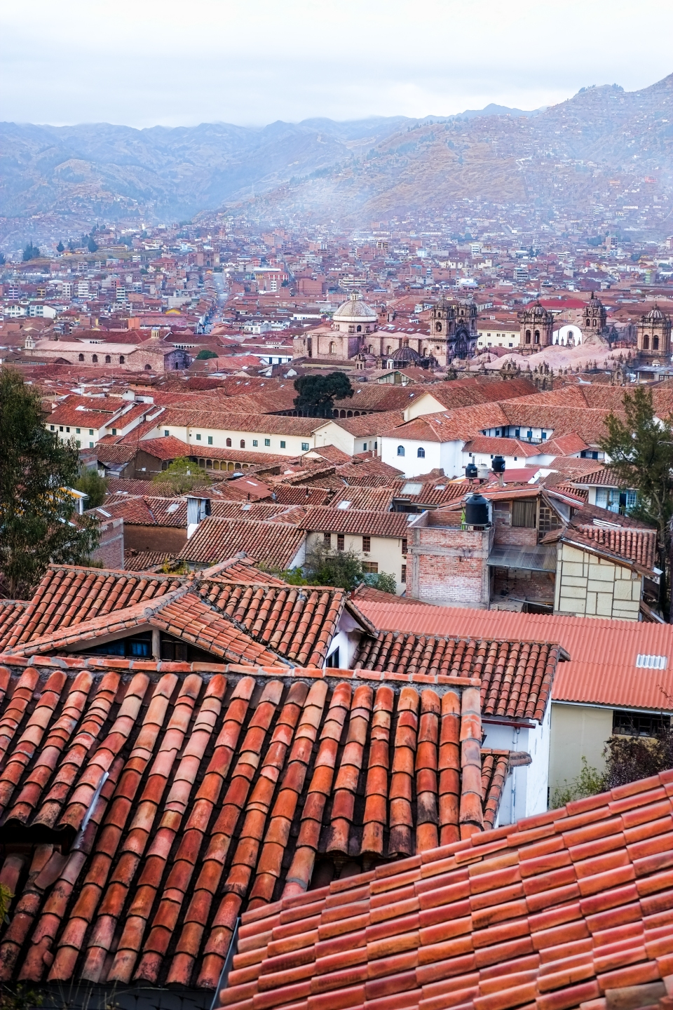 The rooftops of Cusco