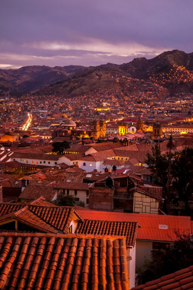 Cusco at dusk