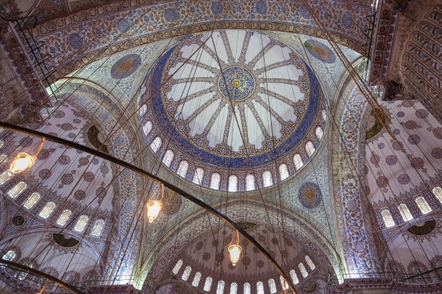 This is why it is called the Blue Mosque