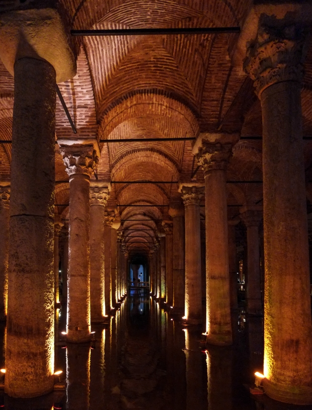 The cistern near Hagia Sophia, where the climax of Inferno happened.
