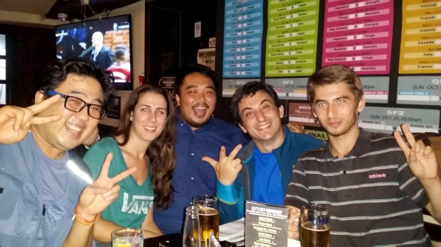 The best surprise for me was that I ended up in a bar with so many Spanish speakers.